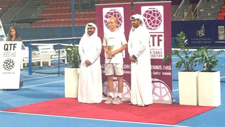Nikita won AlMajid Tennis Tournament
