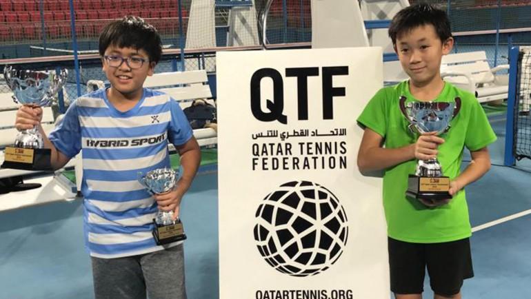 Ippei Takamura won the Under 10 Boys Double